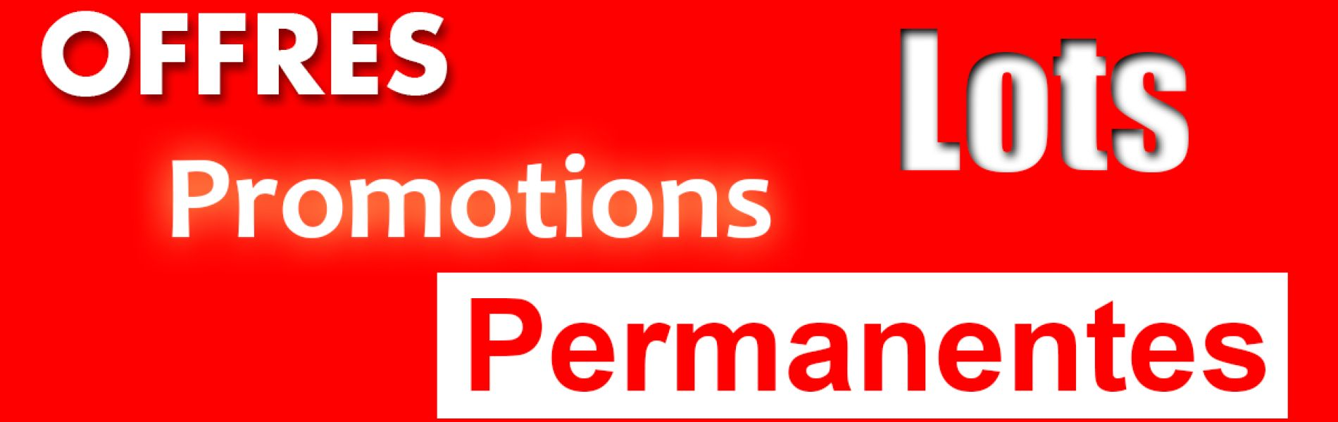 Promotions permanentes