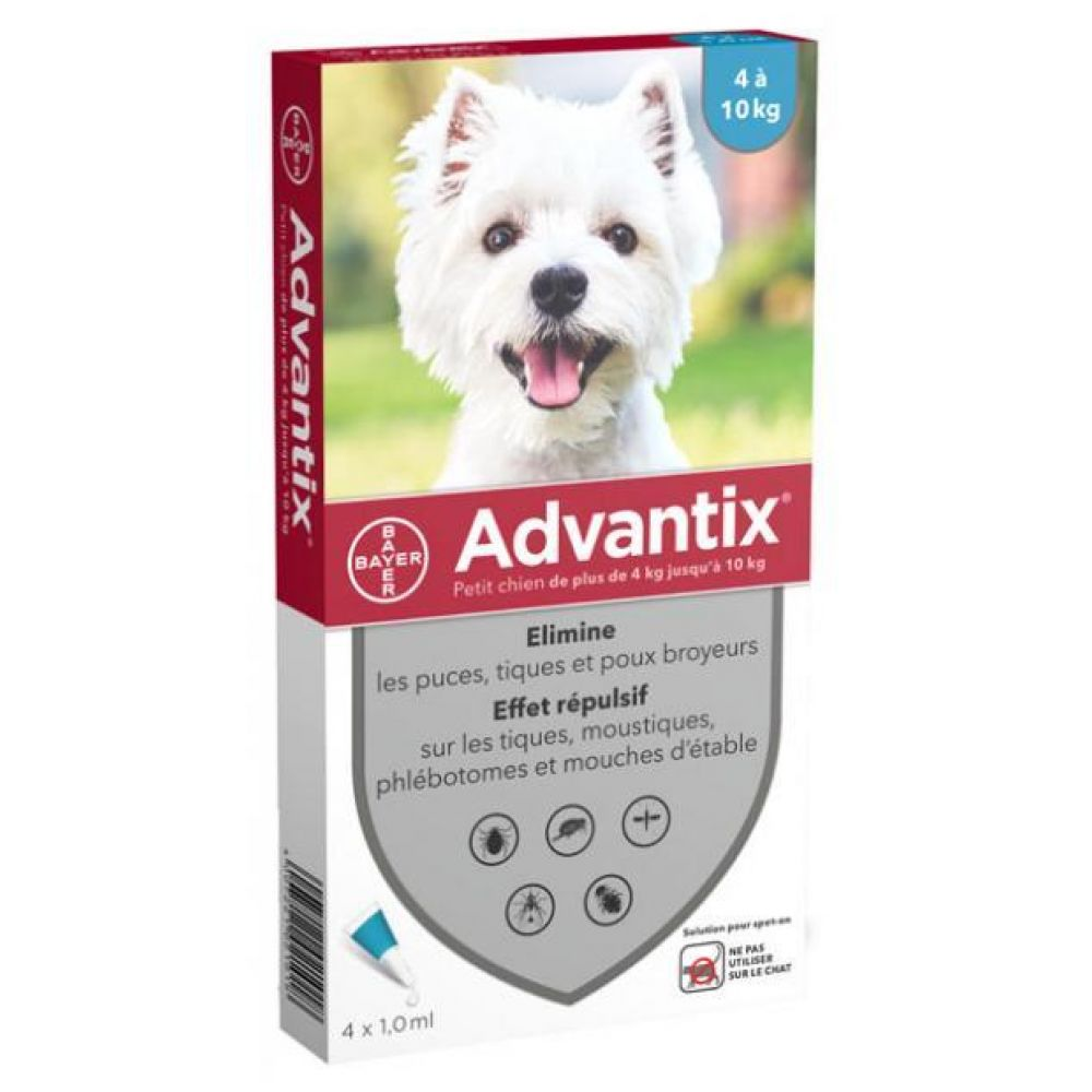 Advantix Petit Chien Spot-On - 4 pipettes