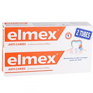 Dentifrice Elmex Anti-carrie - 2x125ml