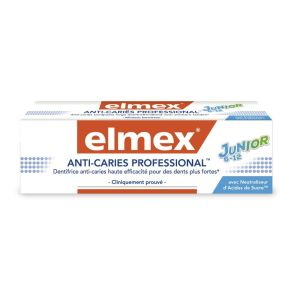 Dentifrice anti-caries Professional Elmex Junior 6-12 ans x 75 ml