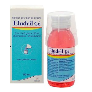 Eludril Gé solution bain de bouche 90 ml - Pierre Fabre