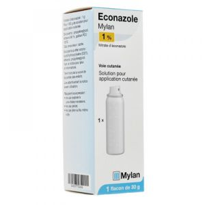 Econazole 1% Solution - Flacon de 30g