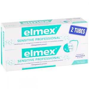 Dentifrice Elmex Sensitive Professional - 2 x 75 ml