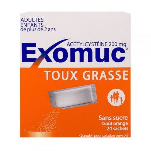 Exomuc 200 mg goût orange Bouchara x 24 sachets