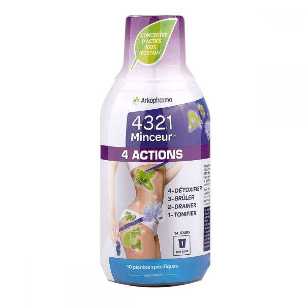 4321 minceur 4 actions Arkopharma x 280 ml